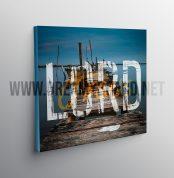 50cm x 50 cm toile mockup_ Lord Jesus dreamyboard